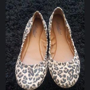 Lucky Brand Animal Print Ballet Flats Sz 8.5